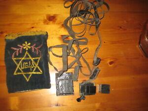 Vintage Tefillin and Tefillah bag