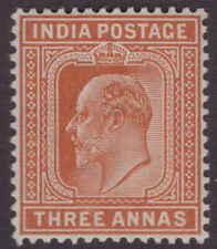 India EDVII 1902 SG127 3a Orange-brown VLMM CV£10+