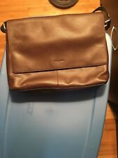 Coach Men's F54792 Charles Messenger Shoulder Laptop Bag Smooth Calf Leather