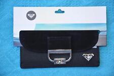 ROXY Leather Look Ladies BLACK Wallet - Purse New. MULTI-POCKET rrp$35.99