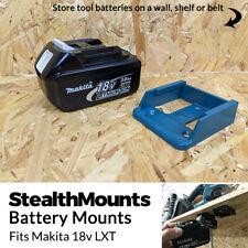 5x BLUE Battery Mounts for Makita 18v LXT Li Ion Batteries Holders Wall Hanger