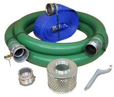"""1-1/2"""" Dia Water Pump Hose Kit, Includes 1-1/2-Inch Suction and Discharge Hose"""