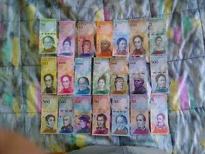 LOTE DE 21 BILLETES VENEZUELA