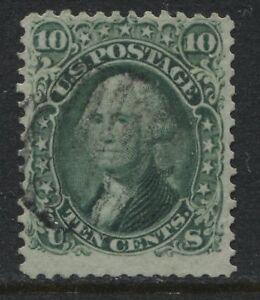 USA 1861 10 cent green Washington used (JD)