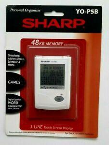 Sharp Personal organizer 48kb memory  YO-P5B  New touch screen display