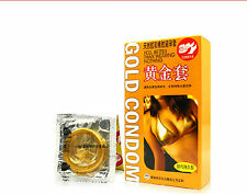 50 PCS GOLD CONDOMS PREMATURE EJACULATION FROM MOST  PEOPLE COUNTRY
