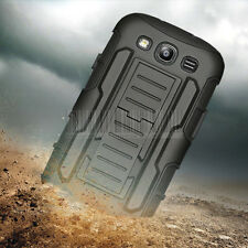 Rugged Hybrid Armor Case Cover Holster For Samsung Galaxy Grand Duos i9082 Neo