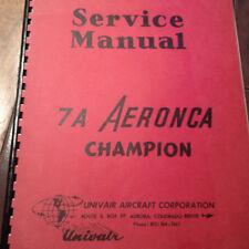 Aeronca Champion Model 7A  Service Manual