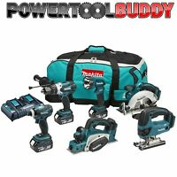 Makita DLX6012PM 18volt LXT Li-ion 6pc Kit With Twin Charger 4 x 3.0ah Batteries