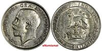 Great Britain George V Silver 1918 1 Shilling 23.5mm KM# 816