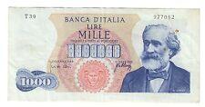 1000 LIRE VERDI I° TIPO 20 05 1966 NON TRATTATA macchie e PIEGHE LOTTO 766