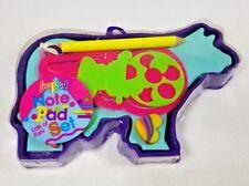 Vintage Lisa Frank Cow Paper Note Pad Set Stickers Paper Eraser Pencil Bookmark