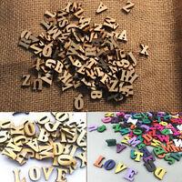 100pcs/Set Wooden Alphabet Letters Embellishments DIY Decor Baby Teaching Toy