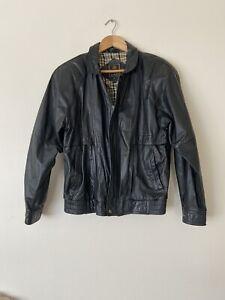 David Jones Size 96 Mens Vintage Genuine Leather Jacket In Excellent Condition