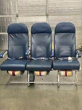 Authentic 747-400 Aircraft Row of 3 Delta Economy Seats