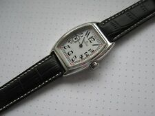 Vintage solid silver 0,925 curved wrist watch. Dial, movement Omega, 1914