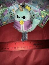 NeW Squishable Plush Keychain Mystical Series 2 * Sparkles Narwhal Queen #4 RaRe
