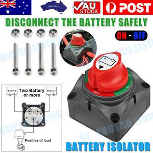 12-48V Battery Master Switch Dual System Isolator For Boat Truck Marine Caravan