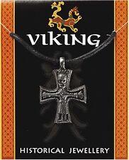 Viking Cruz colgante de estaño