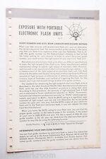 Kodak Exposure with Portable Flash Units AC-37 1969 - English - USED B01 GD