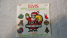 """RARE"" Elvis Presley Merry Christmas Baby / O Come, All Ye Faithful 74-0572 45'"