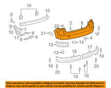 Scion TOYOTA OEM 04-06 xB Rear Bumper-Cover 5215952913
