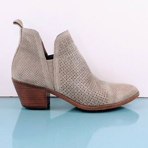 SIGERSON MORRISON Belle $349 Womens Sz 6 Taupe Suede Ankle Booties Boots Shoes
