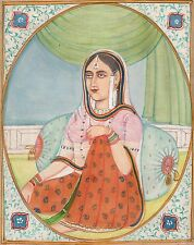 Indian Miniature Painting Rajasthan Art Handmade Ethnic Folk Craft Collectible