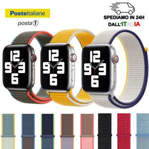 Cinturino nylon tessuto orologio apple watch SE 1 2 3 4 5 6 - 38/40 42/44 mm