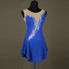 Ice Figure Skating Dress Gymnastics custome Dress Dance Competition Royal Blue