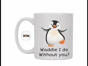 Cute Penguin Mug Gift Valentines Day Girlfriend Couple Christmas Birthday