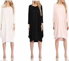 Unbranded Patternless Bubble Dresses for Women
