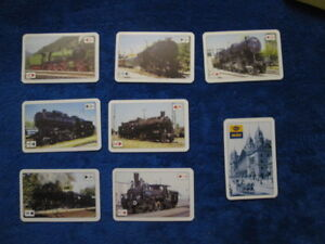 Original Card Game From Hungary 55 Cards With Various Locomotives