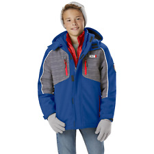 Boys' Weatherproof Softshell Puffer Hooded 3-in-1 Jacket Blue 14/16 #NJTNV-764