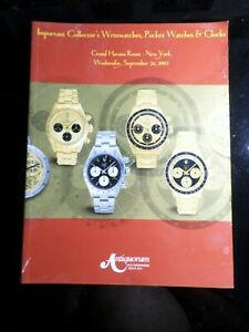 REVUE ANTIQUORUM - WATCHES COLLECTOR'S NEW YORK SEPTEMBRE 03, HORLOGERIE MONTRES