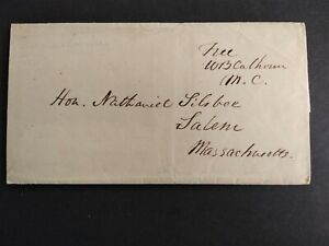 Free Frank: William Calhoun 1835-43 Stampless Cover, Ma Anti-Jacksonian/Whig