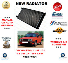 FOR VW GOLF Mk II 19E 1G1 1.8 GTi CAT 16V 1.6 D 1983->1991 RADIATOR OE QUALITY