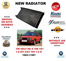 FOR VW GOLF Mk II 19E 1G1 1.8 GTi CAT 16V 1.6 D 1983->1991 RADIATOR OE QUALITY