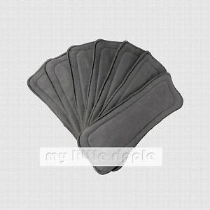 10 x 5-layer Reusable Bamboo Charcoal Inserts / Liners for Baby Cloth Nappies