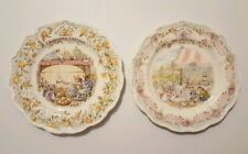 Royal Doulton Plates Brambly Hedge Crabapple Cottage and The Wedding 1984 1987