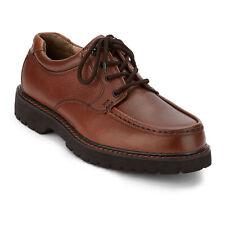 Dockers para Hombre de Cuero Genuino glaciar Resistente Zapatos Oxford Informales con Cordones