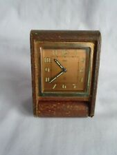VINTAGE JAEGER 2 DAY TRAVELLING DESK / ALARM CLOCK IN GOOD WORKING ORDER