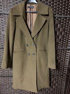 Womens Alpaca / Wool Coat Dress Length Brown Coat Size 8