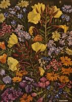 Original Flower Painting Arts and Crafts Style by Margaret W Patterson.