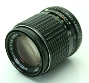 Pentax M 135mm 3.5 SMC Telephoto Camera Lens K PK Mount. Boxed. Complete. A+++
