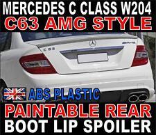 Mercedes C Class W204 Saloon C200 C250 C300 AMG Style Rear Boot Spoiler Plastic