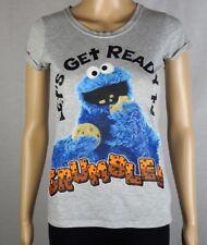 Ladies Size XXXS ~ Sesame Street Cookie Monster Shirt ~ MBC