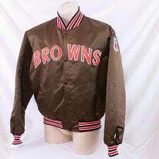 Vintage Cleveland Browns Starter Satin Jacket 90s Coat NFL Football XL