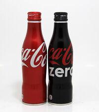 Coca Cola Coke & zero Alu aluminum bottles aluminio Japan empty