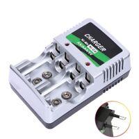 US EU Plug Charger For AA AAA 9V Ni MH Ni Cd Rechargeable Battery Pop·